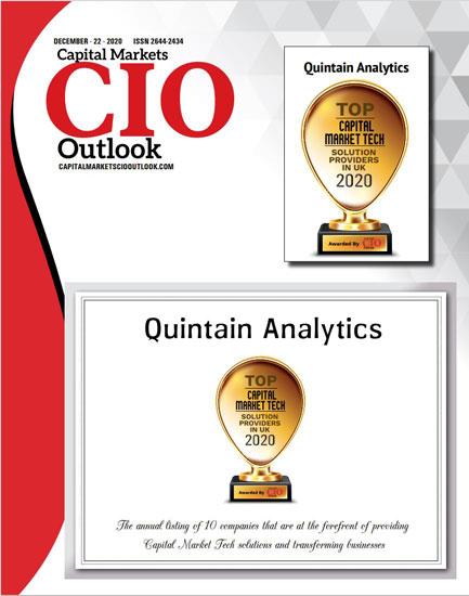 Quintain Analytics CIO Top UK Capital Markets Provider.